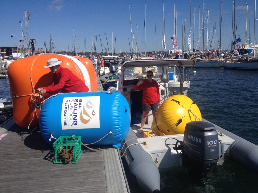 Somehow we managed to take out one yellow, one blue and two of the large orange bouys in this RIB