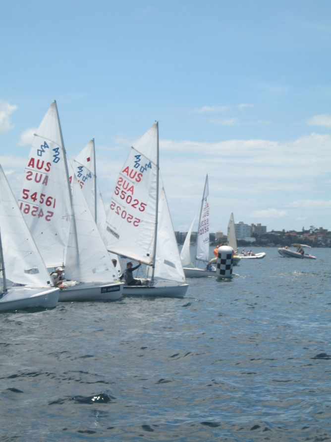 Sail Middle Harbour 420 start