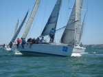 Close racing in the Sydney38s