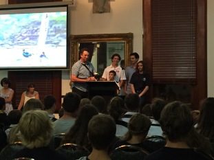 Also present at the prizegiving were the last two Cadet World Champions and their crews.